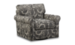 Contemporary paisley swivel chair from Main & Co. Seating from the Collins Collection