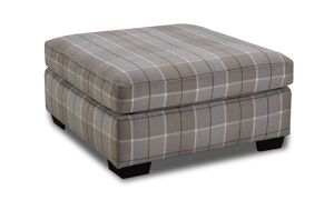 41 inch Collins Plaid Ottoman from Behold Home.