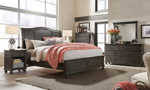 Oxford Peppercorn Sleigh Bedroom Sets