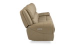 Beckham Taupe Power Reclining Leather Sofa