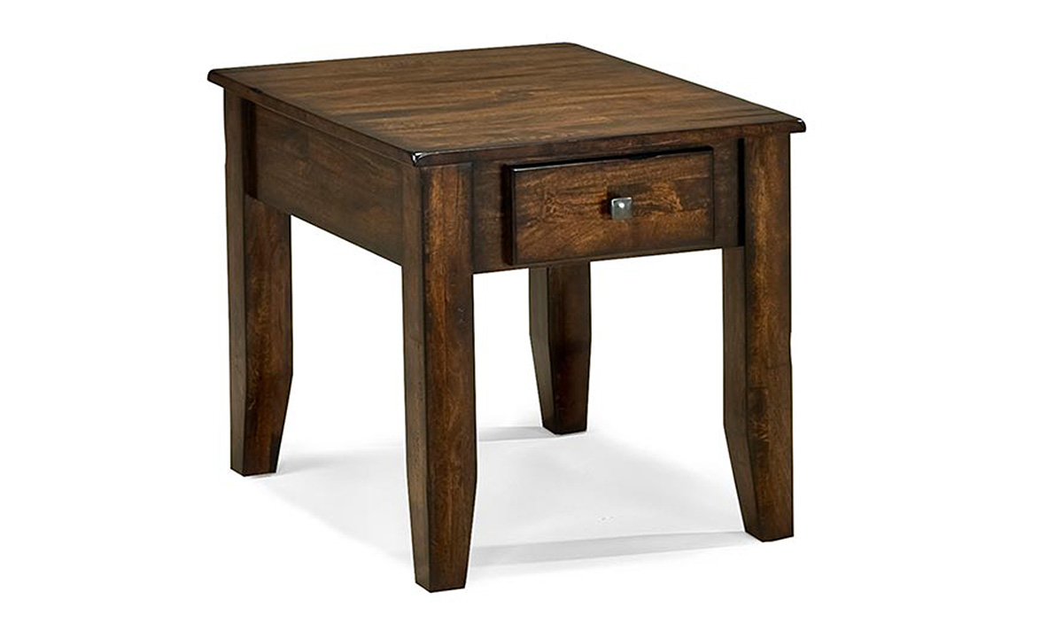 Kona Raisin Solid Mango Wood End Table