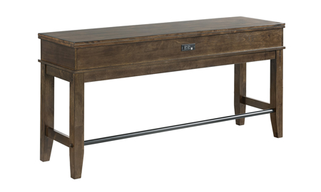 Kona Raisin Solid Mango Wood Sofa Bar Table