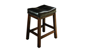 Kona Raisin Solid Mango Wood Upholstered Bar Stool