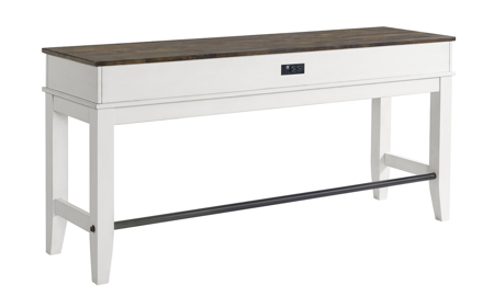 Kona Grey Solid Mango Wood Sofa Bar Table