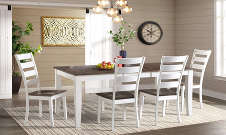 Kona Grey Solid Mango Wood 5-Piece Dining Set