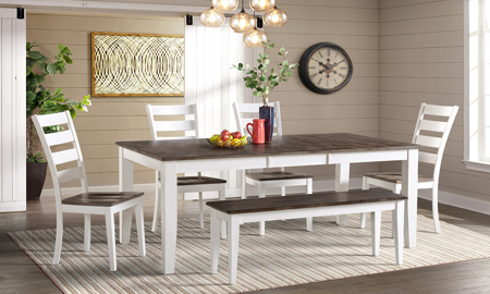 Kona Grey Solid Mango Wood 6-Piece Dining Set