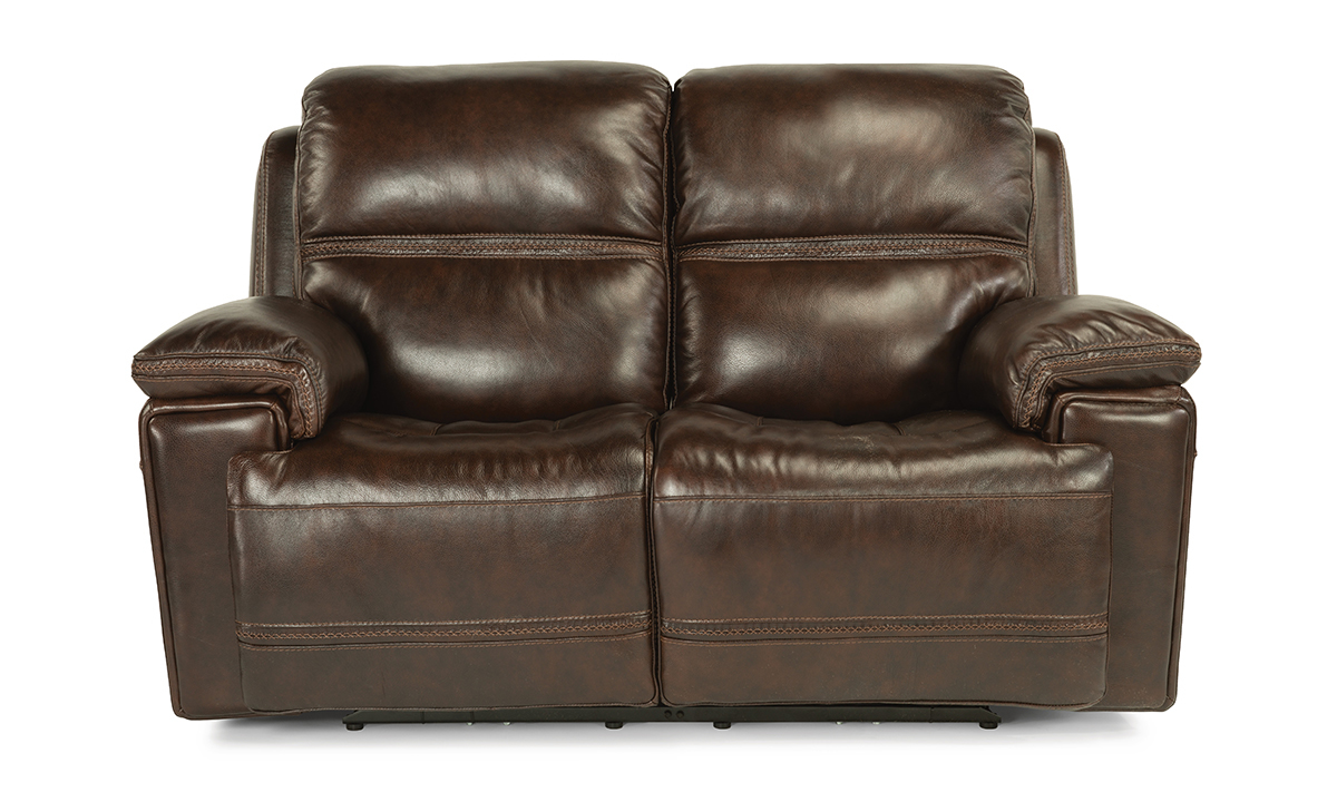 Picture of Lionel Walnut Power Reclining Leather Loveseat
