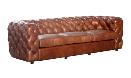 Clarissa Elmhurst Top Grain Leather Sofa