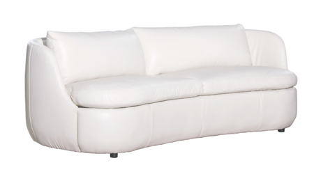 Campania Bone Top Grain Leather Sofa