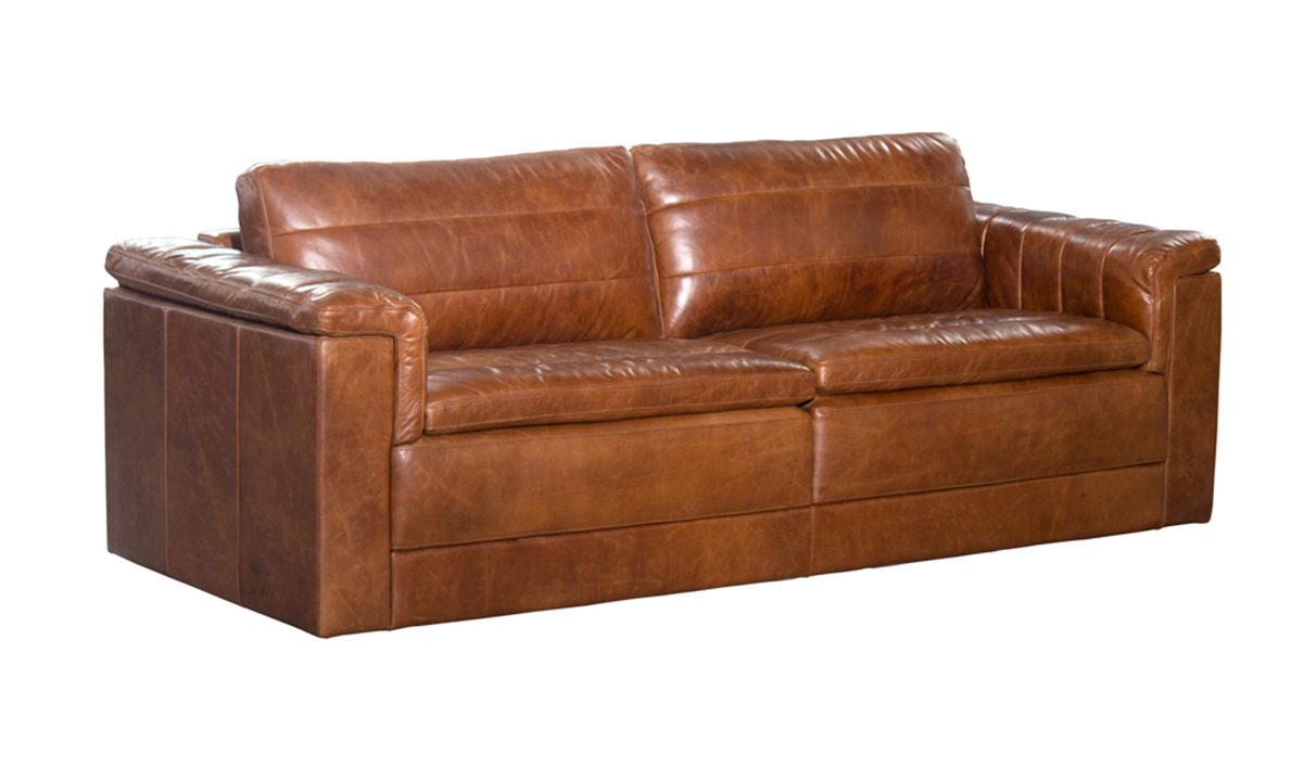 Norah Brown Top Grain Leather Sofa