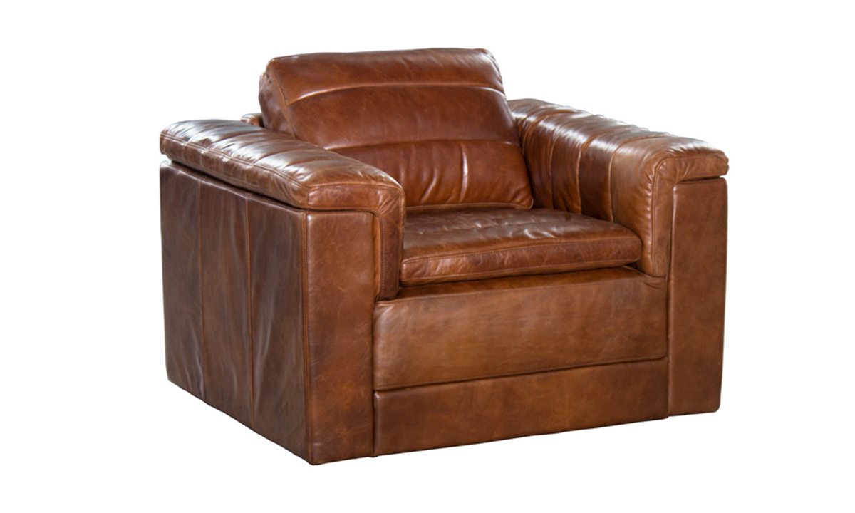 Norah Brown Top Grain Leather Armchair