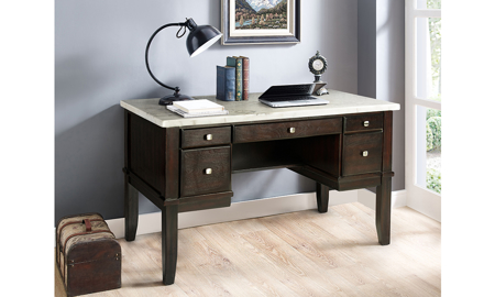Francis White Marble Desk