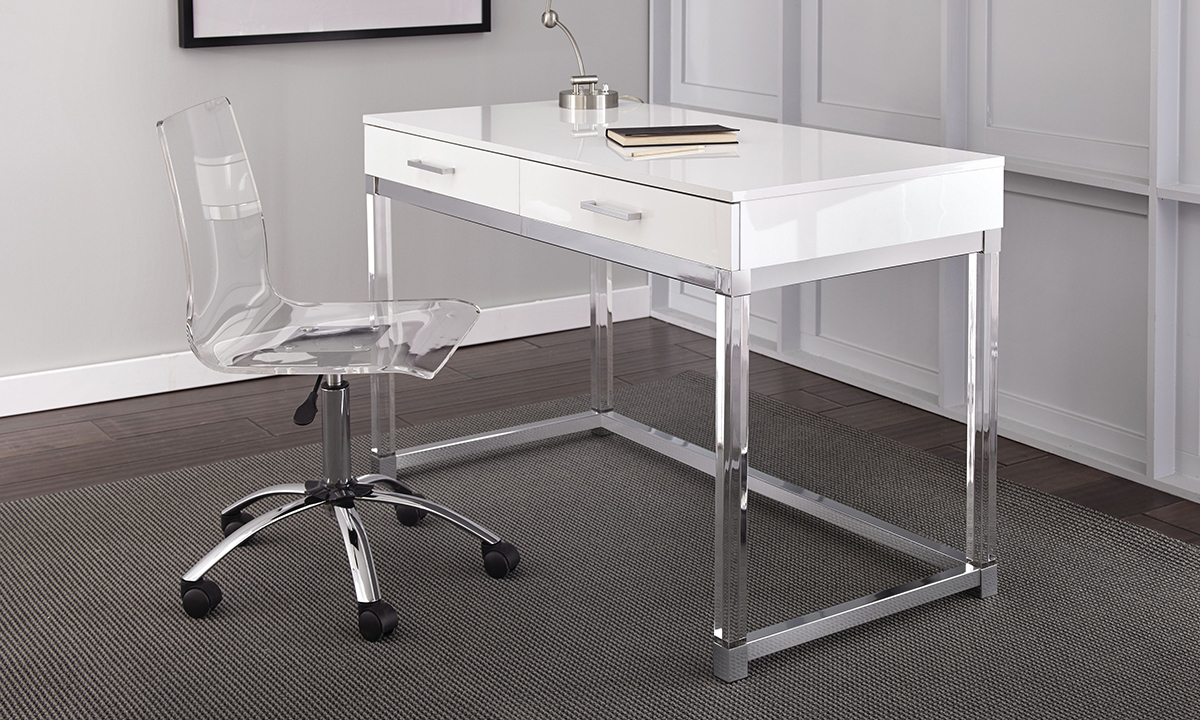Picture of Everett White and Acrylic Desk