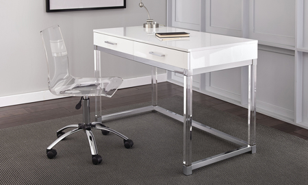 Everett White and Acrylic Desk