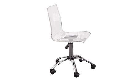 Everett Acrylic Swivel Desk Chair
