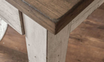 Bear Creek White and Honey Desk - Detail shot of two-tone brown and white wood finish
