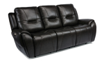 Maradonna Licorice Power Reclining Leather Sofa