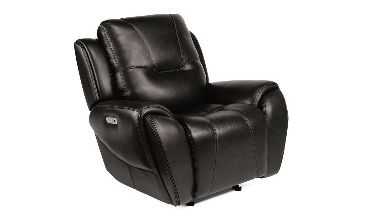 Picture of Maradonna Licorice Power Leather Glider Recliner
