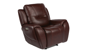 Maradonna Chocolate Power Leather Glider Recliner