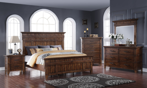 Artisan Haus Russet Umber Panel Bedroom Sets with Nightstand