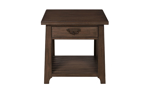 Mission Brown 1-Drawer End Table