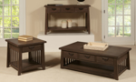 Mission Brown 3-Drawer Sofa Table