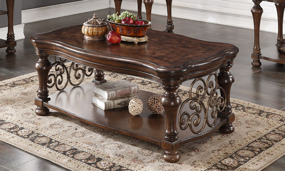 Grand Scrollwork Cocktail Table