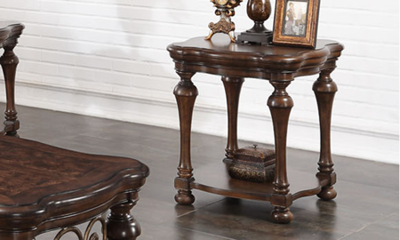 Grand Scrollwork End Table
