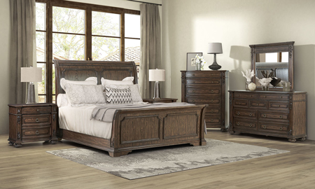 Tuscany Pointe Hazelnut Sleigh Bedroom Sets