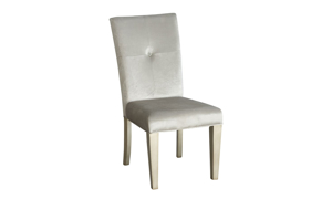 Krystal Platinum Upholstered Dining Chair