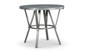 Portland Grey Iron & Ash Counter Height Dining Table