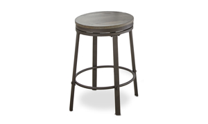 Portland Grey Iron & Ash Counter Height Swivel Stool
