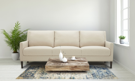 Bella Beige Contemporary Sofa