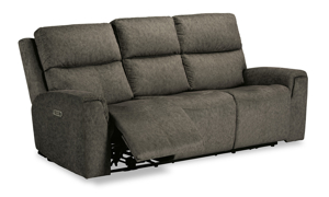 Cristiano Mushroom Power Reclining Sofa