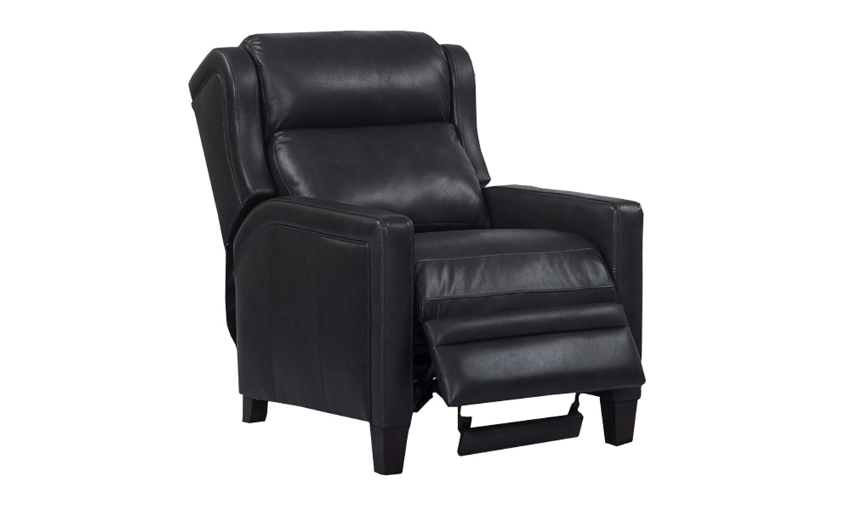 Dodge Cyclone Top Grain Leather Power Recliner with Power Headrest
