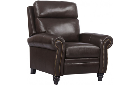 Douglas Clydesdale Top Grain Leather Power Recliner with Power Headrest