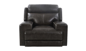 Glacier Graphite Top Grain Leather Power Recliner with Power Headrest