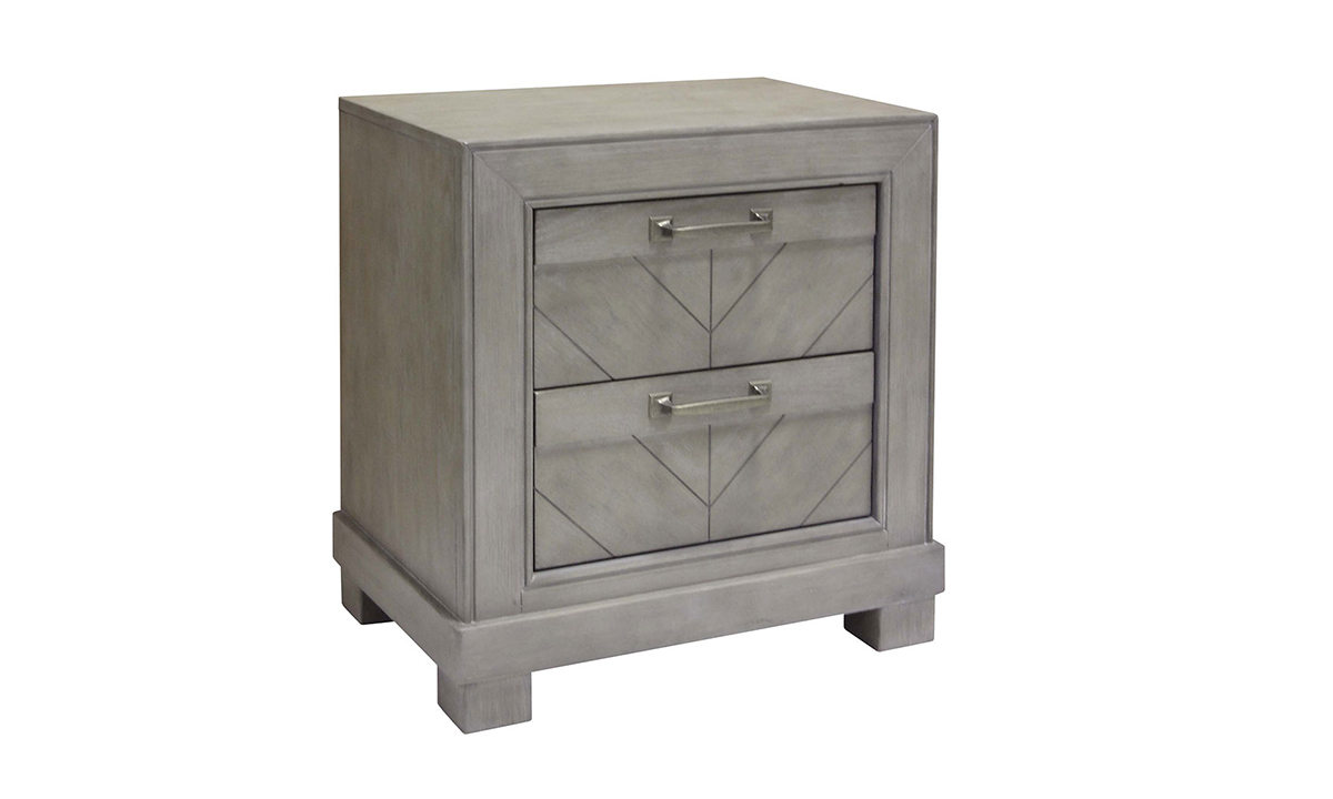 Montana Chevron Grey 2 Drawer Nightstand The Dump Luxe Furniture Outlet