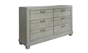 Montana Chevron Grey 6-Drawer Dresser