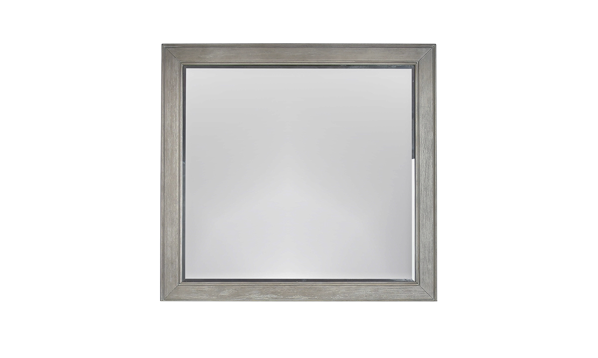 Picture of Montana Chevron Grey Landscape Mirror