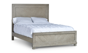 Montana Chevron Grey Panel Beds