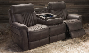 Sebastian Sienna Dual Power Reclining Sofa with iTable 2.0