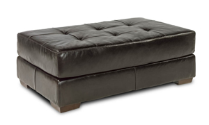 Rocky Mountain Leather Mayfair Deluxe Cocktail Ottoman