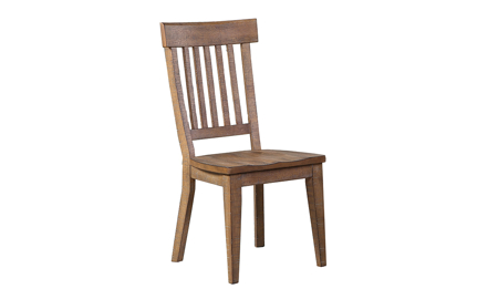Riverdale Driftwood Slat-back Side Chair