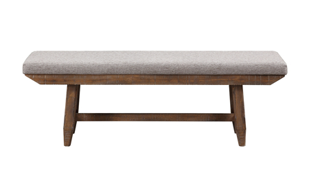 Riverdale Driftwood Upholstered Bench