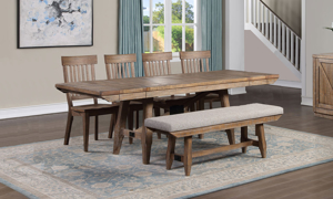 Riverdale Driftwood 6-Piece Dining Set