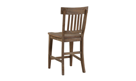 Riverdale Driftwood Slat-Back Counter Height Stool