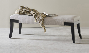 Clove Light Grey Upholstered Bench