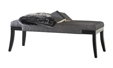 Storm Dark Grey Upholstered Bench