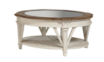 Cottage Cream Round Cocktail Table